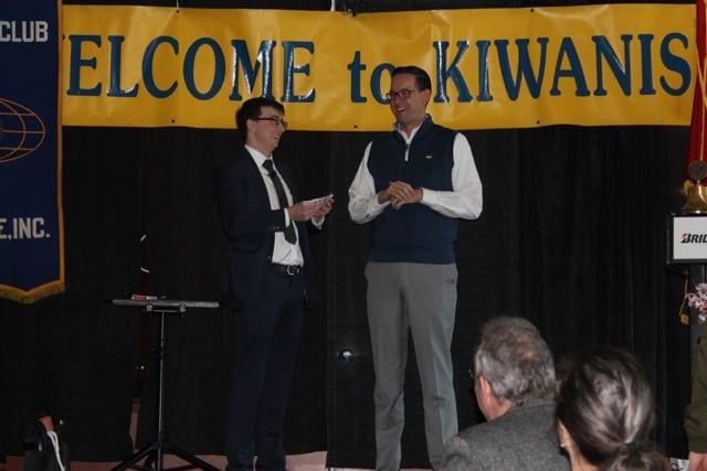 Amory at a Kiwanis banquet